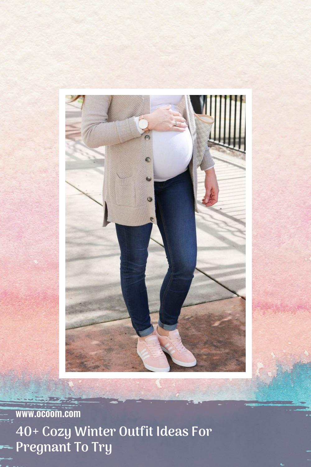 40+ Cozy Winter Outfit Ideas For Pregnant To Try 16