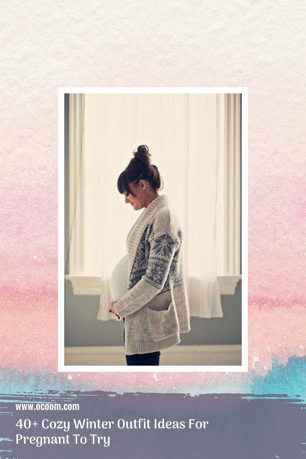 40+ Cozy Winter Outfit Ideas For Pregnant To Try 20