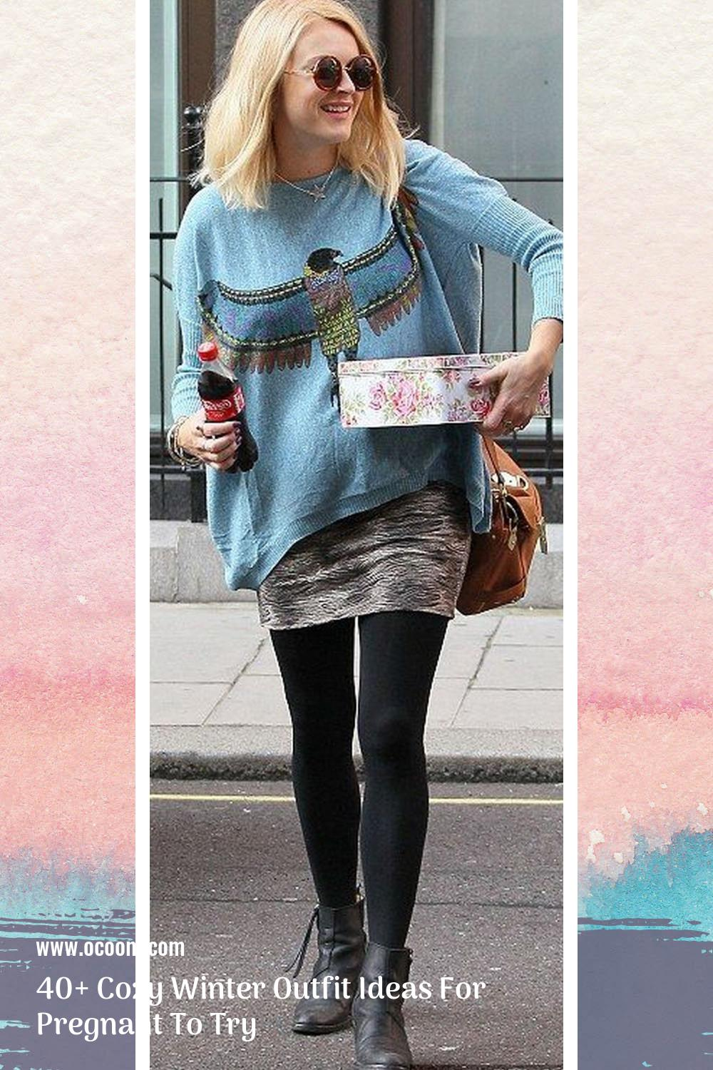 40+ Cozy Winter Outfit Ideas For Pregnant To Try 22