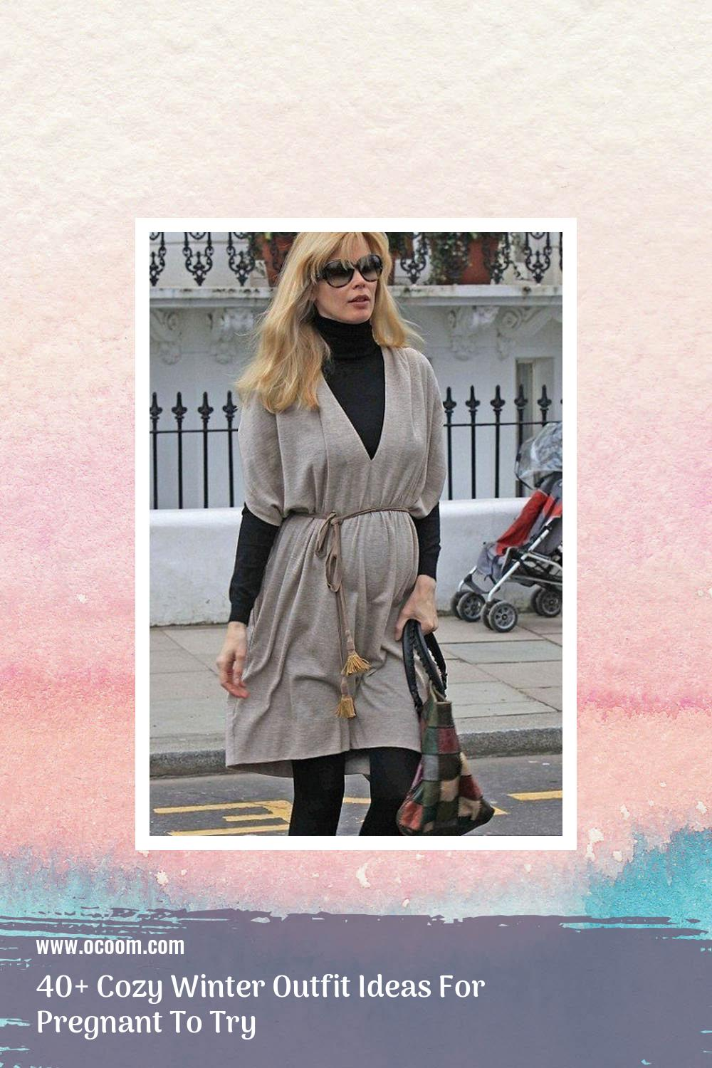 40+ Cozy Winter Outfit Ideas For Pregnant To Try 24