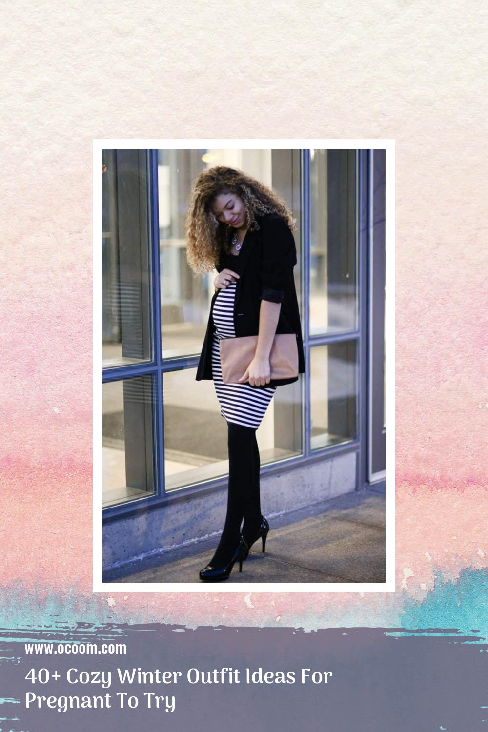 40+ Cozy Winter Outfit Ideas For Pregnant To Try 26