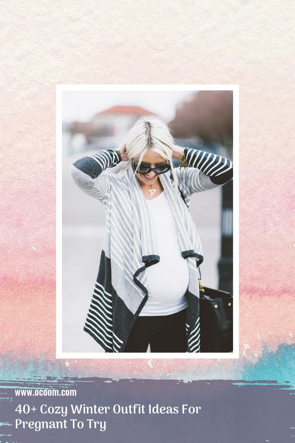 40+ Cozy Winter Outfit Ideas For Pregnant To Try 29