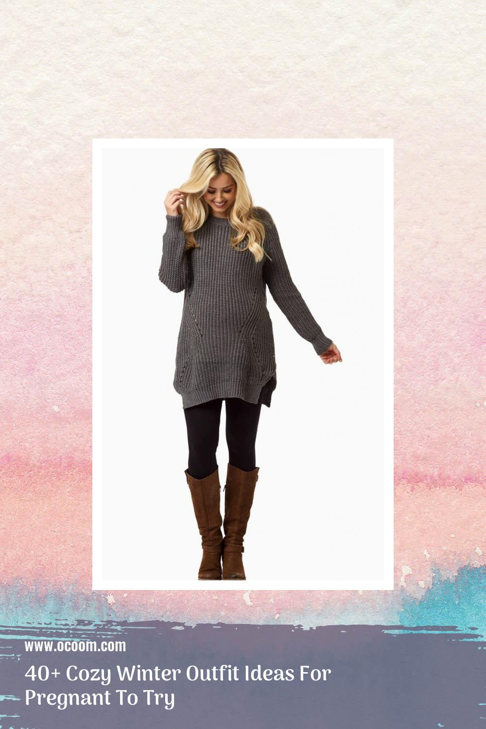 40+ Cozy Winter Outfit Ideas For Pregnant To Try 32