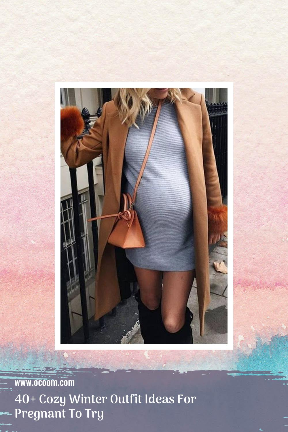 40+ Cozy Winter Outfit Ideas For Pregnant To Try 34