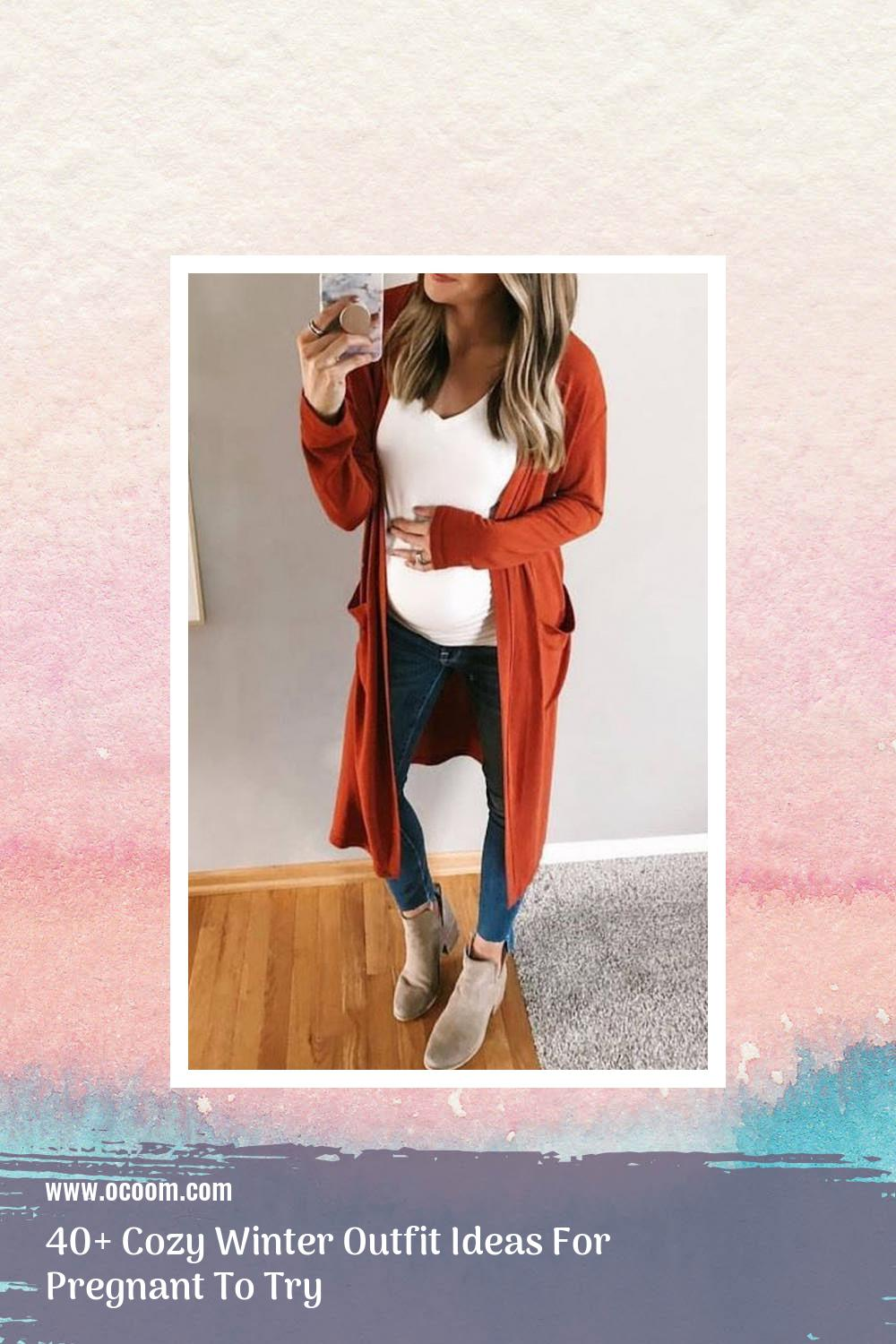 40+ Cozy Winter Outfit Ideas For Pregnant To Try 37