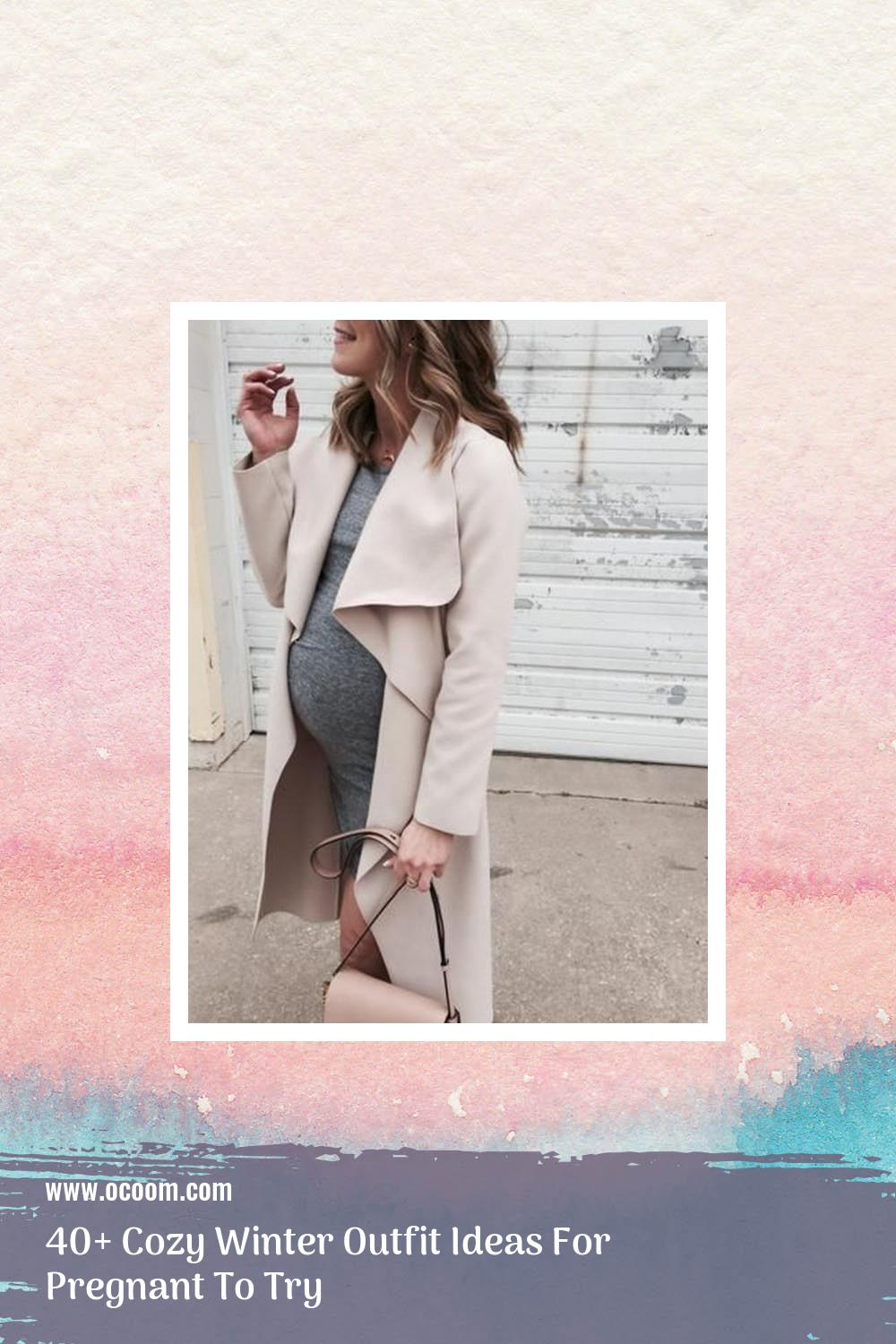 40+ Cozy Winter Outfit Ideas For Pregnant To Try 38