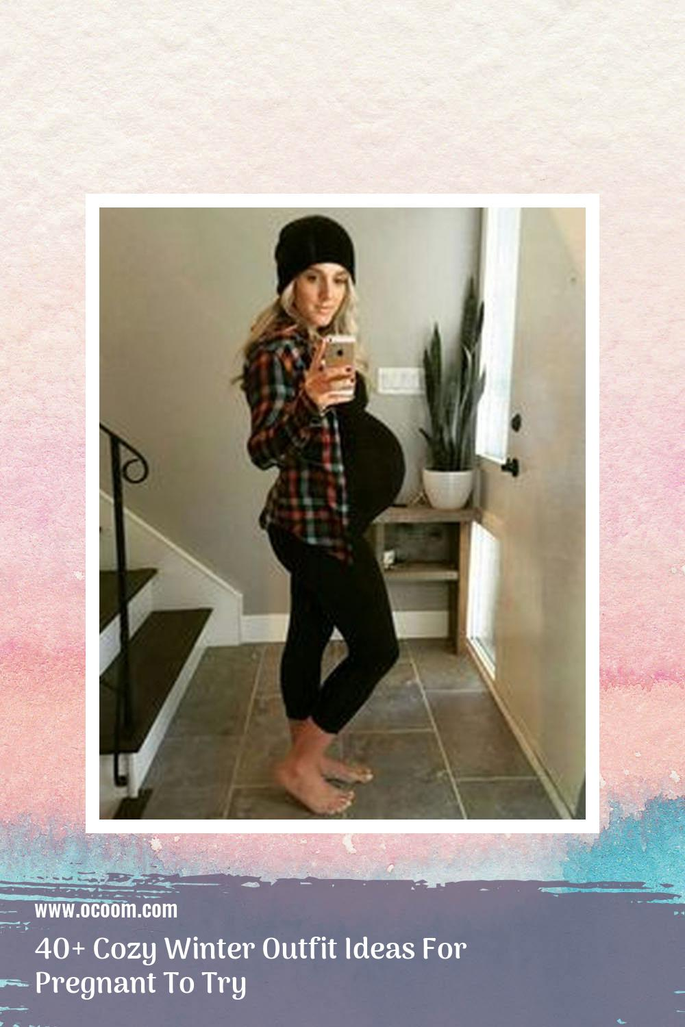 40+ Cozy Winter Outfit Ideas For Pregnant To Try 41