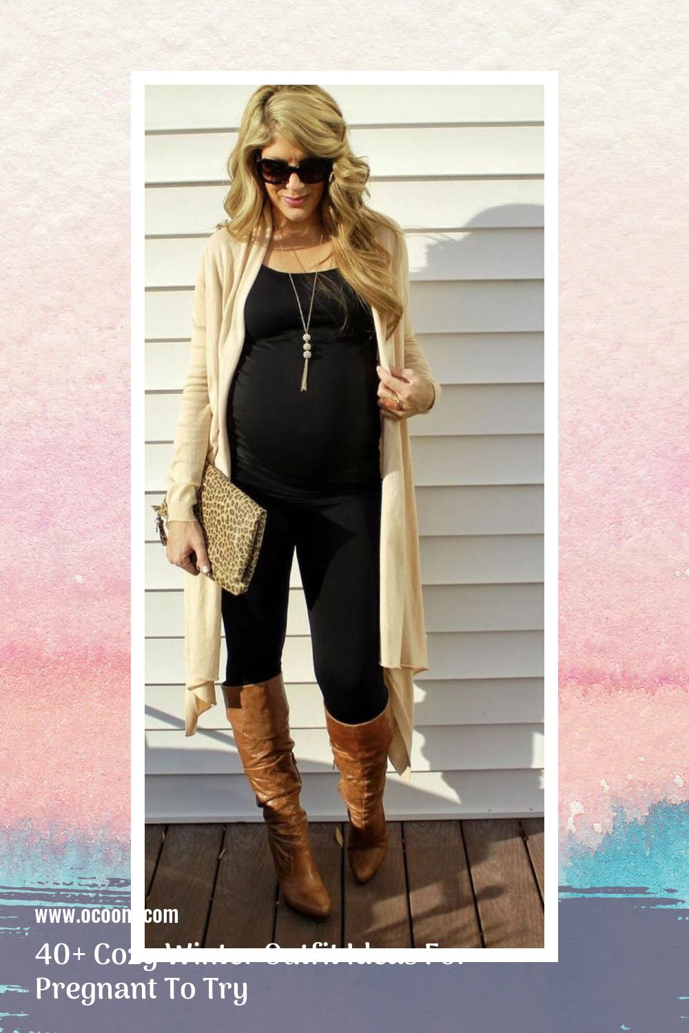 40+ Cozy Winter Outfit Ideas For Pregnant To Try 5