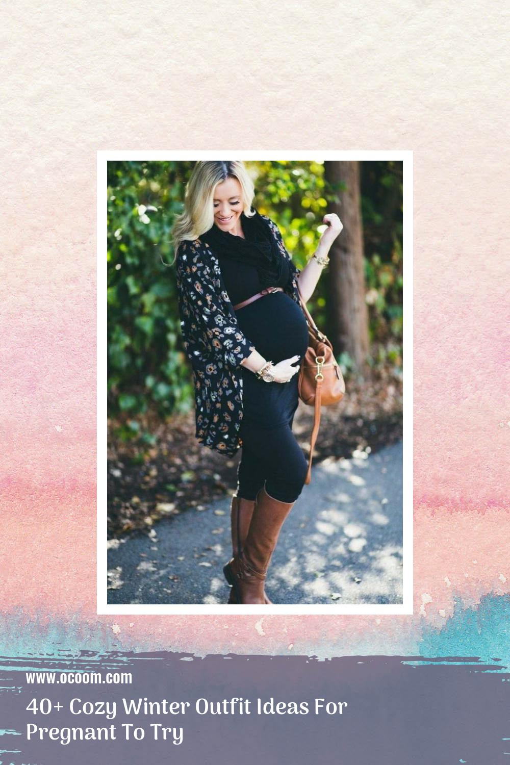 40+ Cozy Winter Outfit Ideas For Pregnant To Try 6
