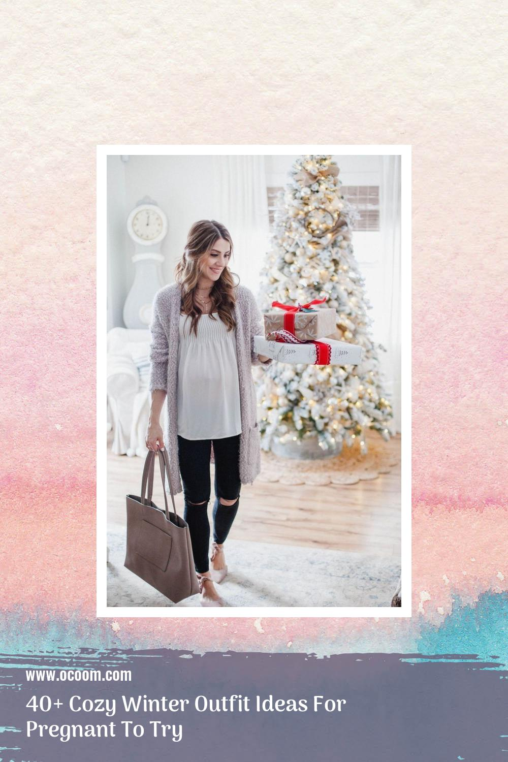 40+ Cozy Winter Outfit Ideas For Pregnant To Try 7