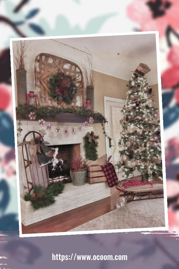 41 Stunning Christmas Living Room Decor Ideas 16