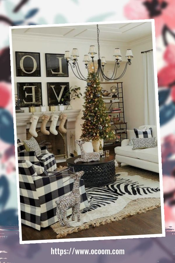41 Stunning Christmas Living Room Decor Ideas 4