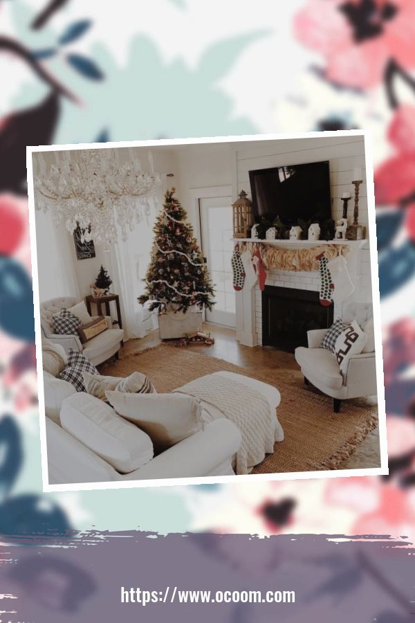 41 Stunning Christmas Living Room Decor Ideas 6