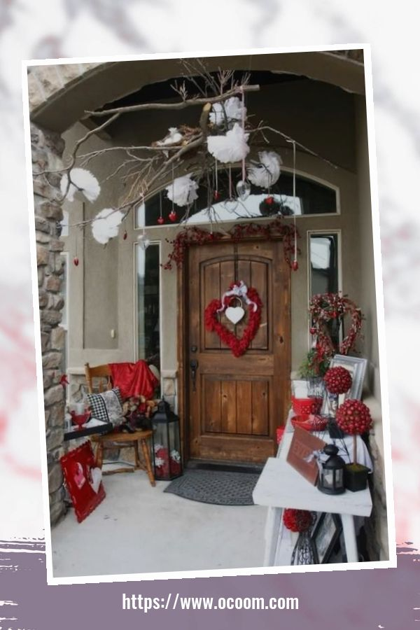 43 Best Ideas To Decorate Your Porch For Valentines Day 23