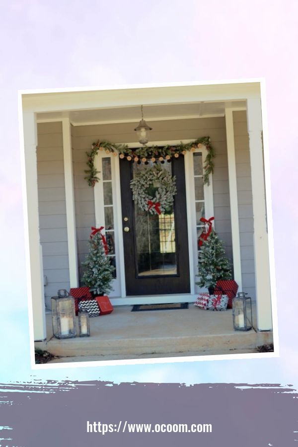 45 Perfect Christmas Porch Decoration Ideas 26