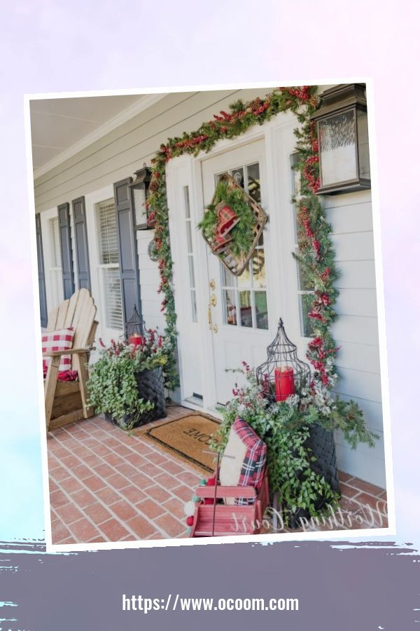 45 Perfect Christmas Porch Decoration Ideas 32