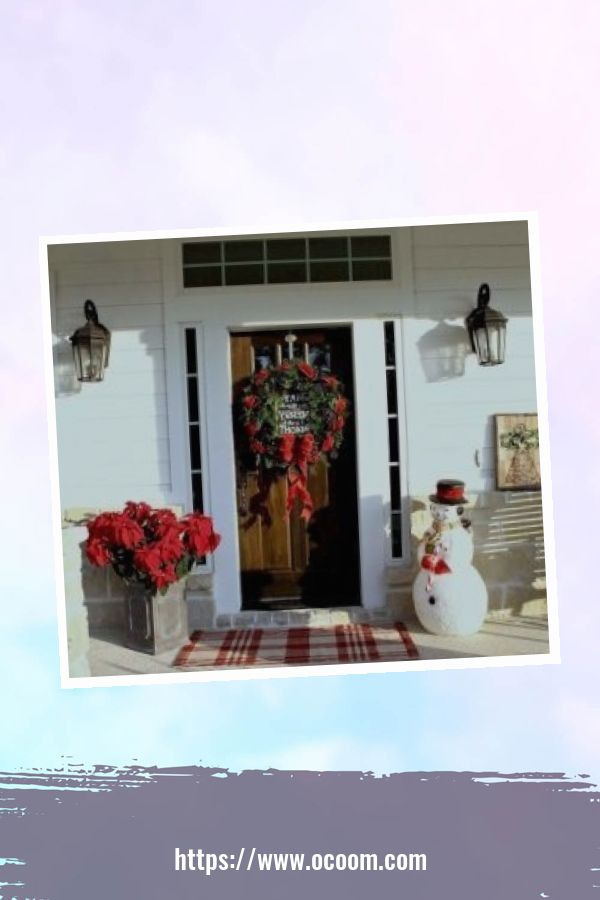 45 Perfect Christmas Porch Decoration Ideas 38