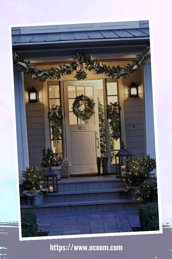 45 Perfect Christmas Porch Decoration Ideas 4