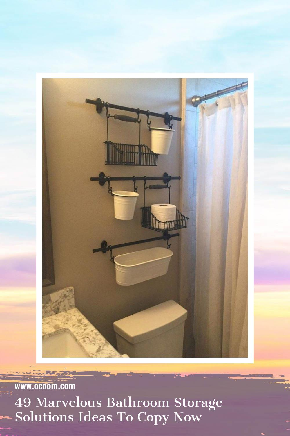 49 Marvelous Bathroom Storage Solutions Ideas To Copy Now 10