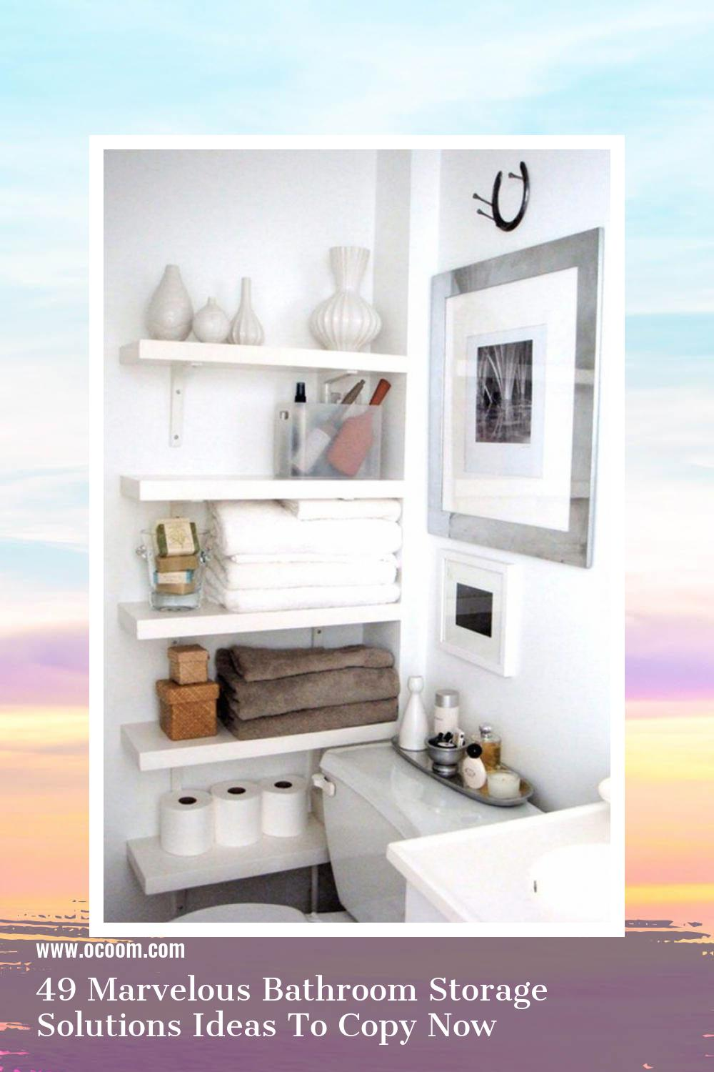 49 Marvelous Bathroom Storage Solutions Ideas To Copy Now 28