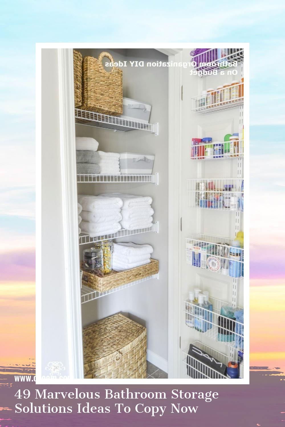 49 Marvelous Bathroom Storage Solutions Ideas To Copy Now 45