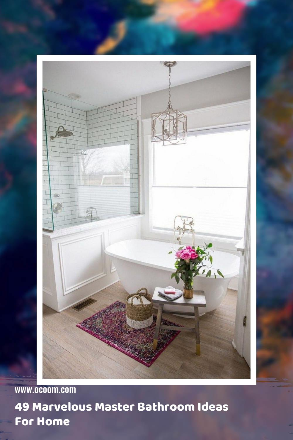 49 Marvelous Master Bathroom Ideas For Home 9