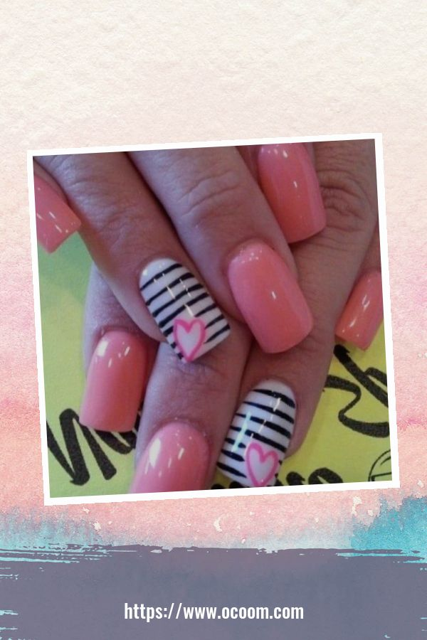 50 Easy And Simple Diy Nails Art Ideas For Valentines Day 35