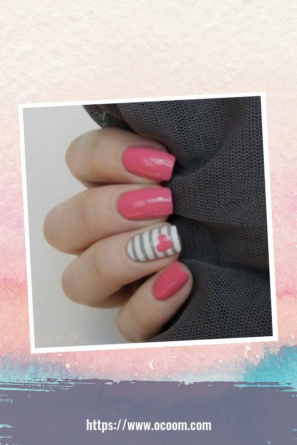 50 Easy And Simple Diy Nails Art Ideas For Valentines Day 36