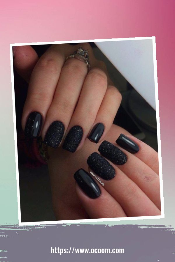50 Superb Black Nail Art Designs Ideas That You Must Try 10