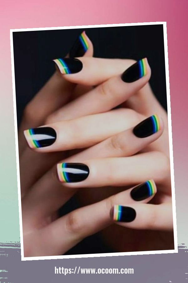 50 Superb Black Nail Art Designs Ideas That You Must Try 12
