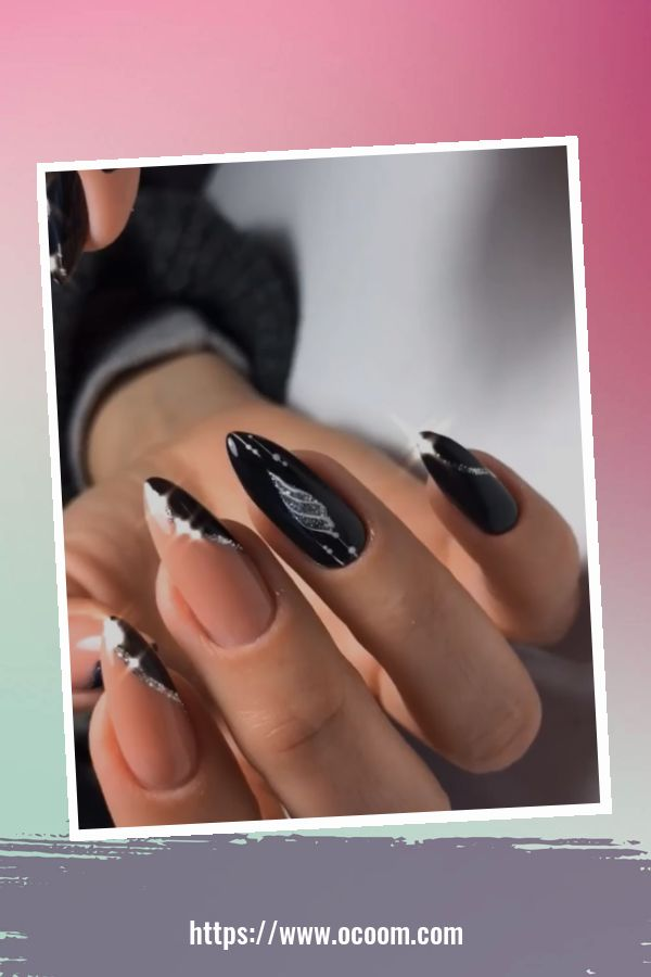 50 Superb Black Nail Art Designs Ideas That You Must Try 14