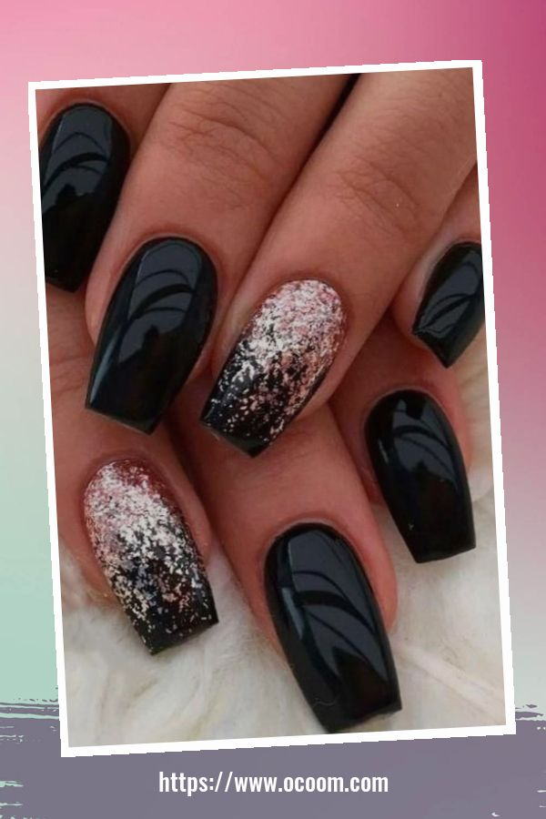 50 Superb Black Nail Art Designs Ideas That You Must Try 15