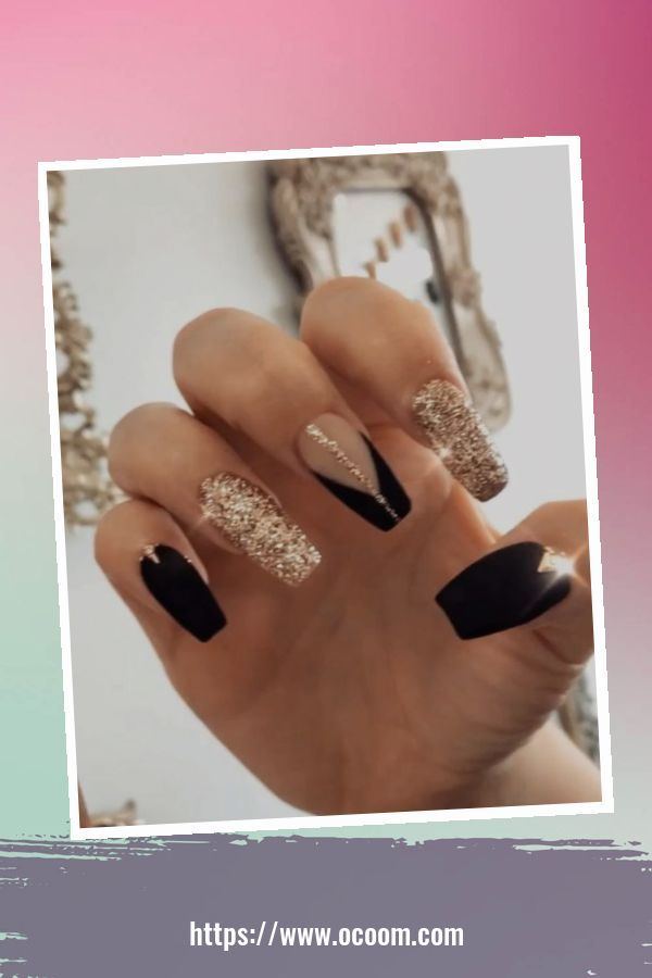 50 Superb Black Nail Art Designs Ideas That You Must Try 16