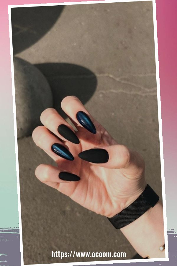 50 Superb Black Nail Art Designs Ideas That You Must Try 17