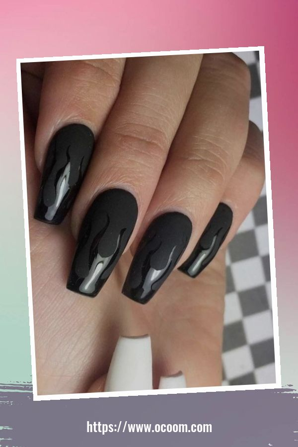 50 Superb Black Nail Art Designs Ideas That You Must Try 20