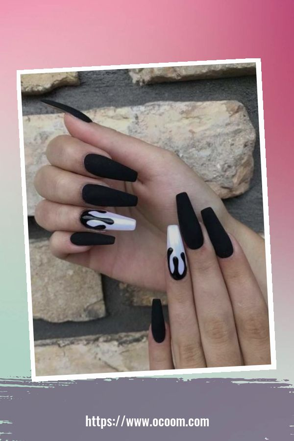 50 Superb Black Nail Art Designs Ideas That You Must Try 21