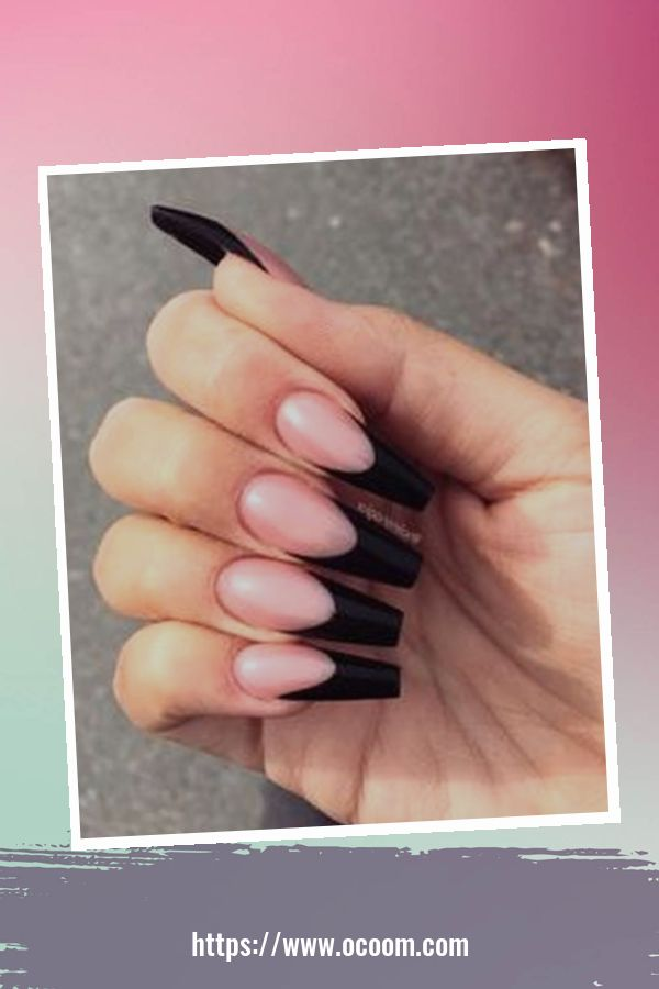 50 Superb Black Nail Art Designs Ideas That You Must Try 25