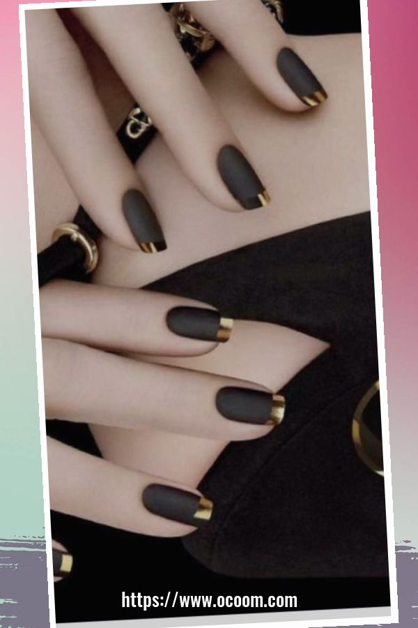 50 Superb Black Nail Art Designs Ideas That You Must Try 30