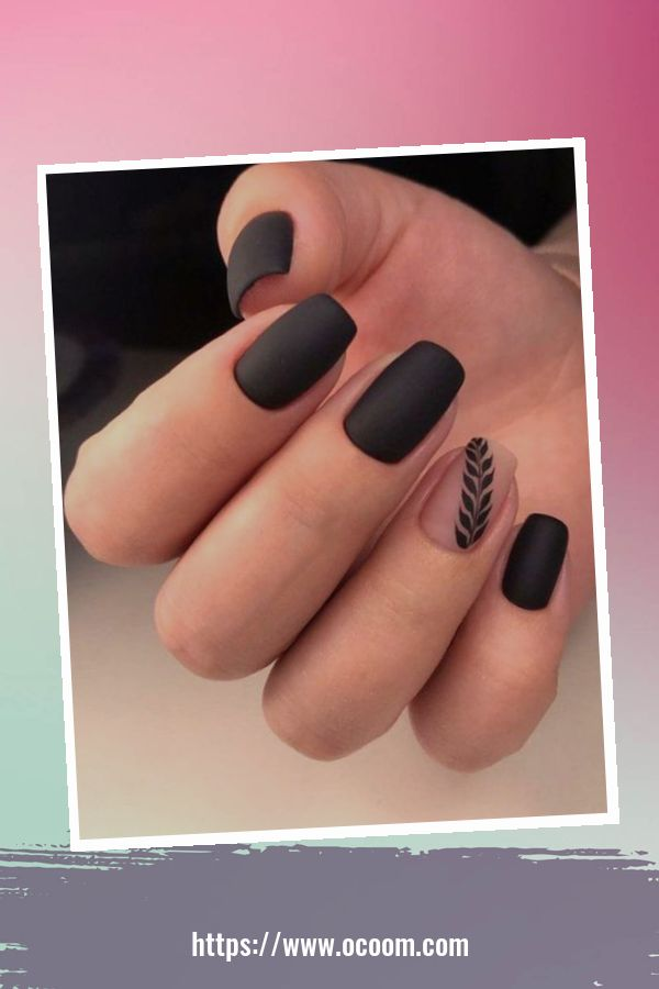 50 Superb Black Nail Art Designs Ideas That You Must Try 31