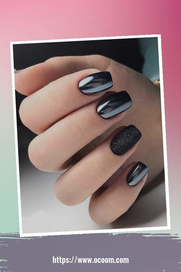50 Superb Black Nail Art Designs Ideas That You Must Try 33