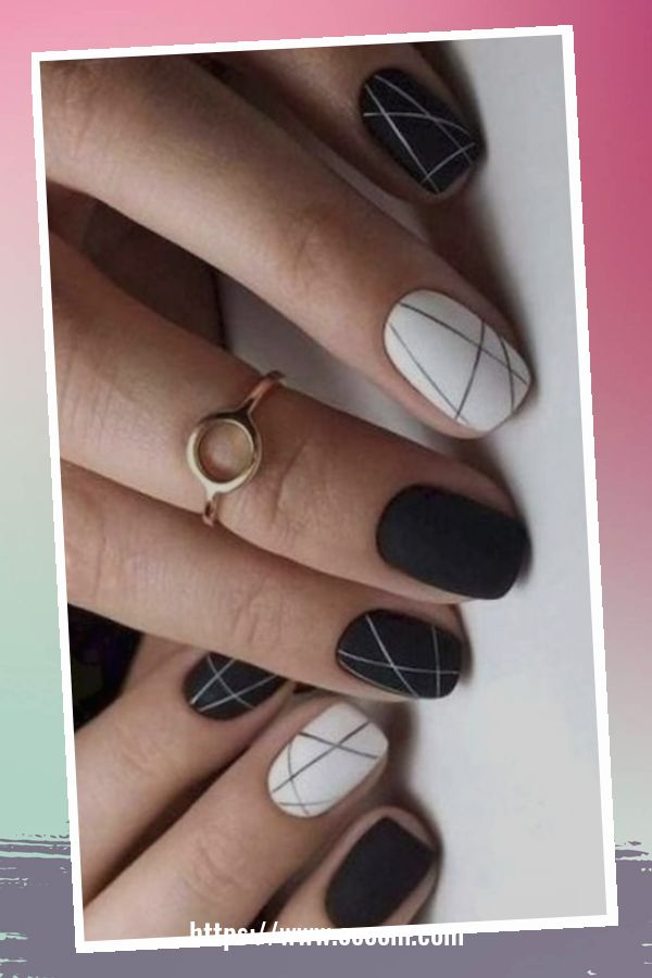 50 Superb Black Nail Art Designs Ideas That You Must Try 34