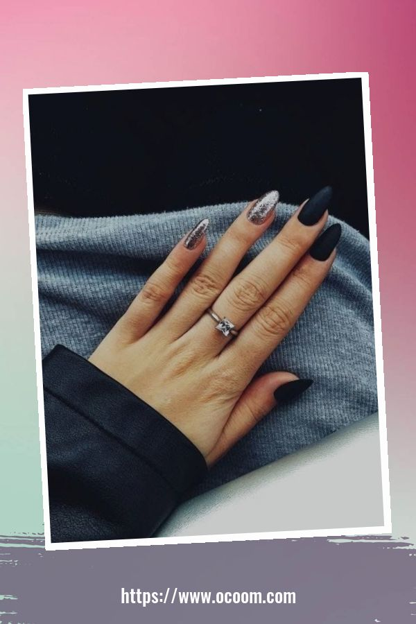 50 Superb Black Nail Art Designs Ideas That You Must Try 36