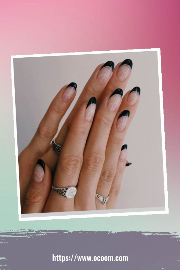 50 Superb Black Nail Art Designs Ideas That You Must Try 38
