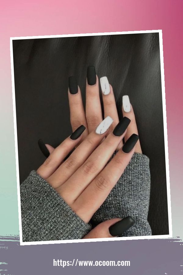50 Superb Black Nail Art Designs Ideas That You Must Try 40