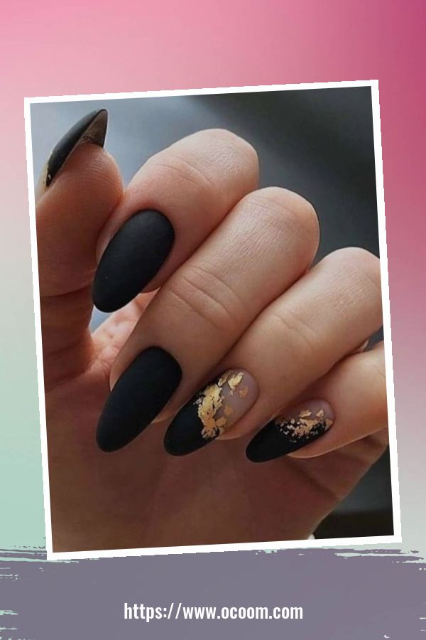 50 Superb Black Nail Art Designs Ideas That You Must Try 41