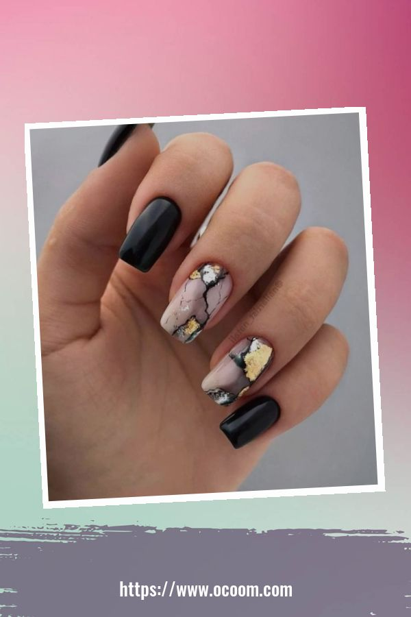 50 Superb Black Nail Art Designs Ideas That You Must Try 46
