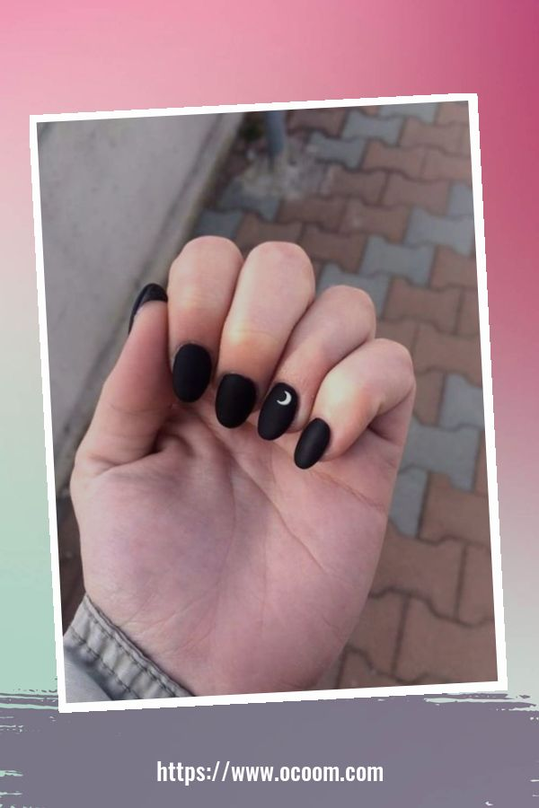 50 Superb Black Nail Art Designs Ideas That You Must Try 7