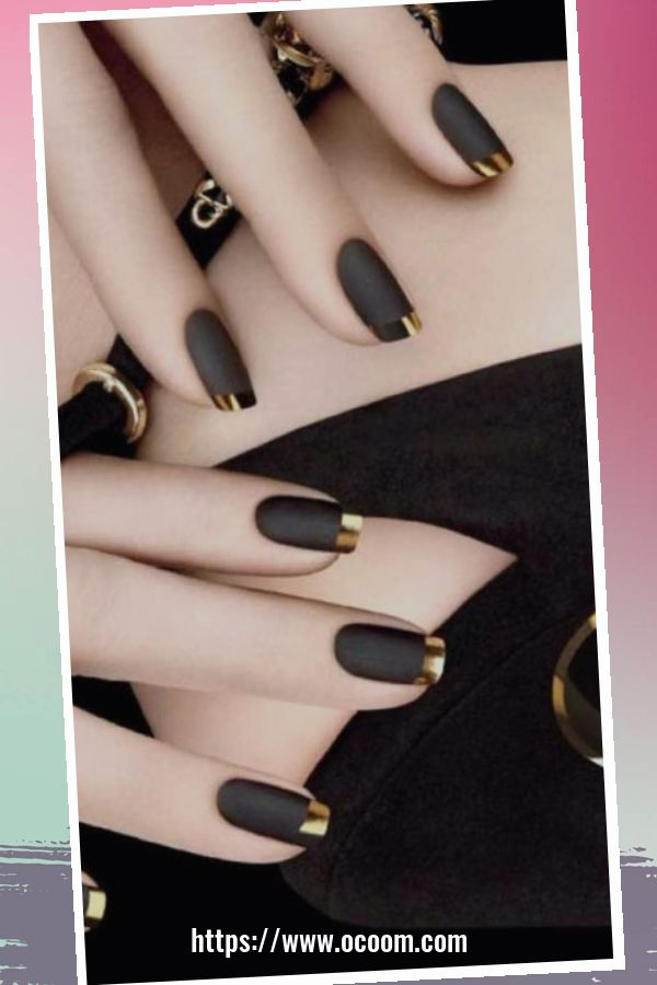 50 Superb Black Nail Art Designs Ideas That You Must Try 8