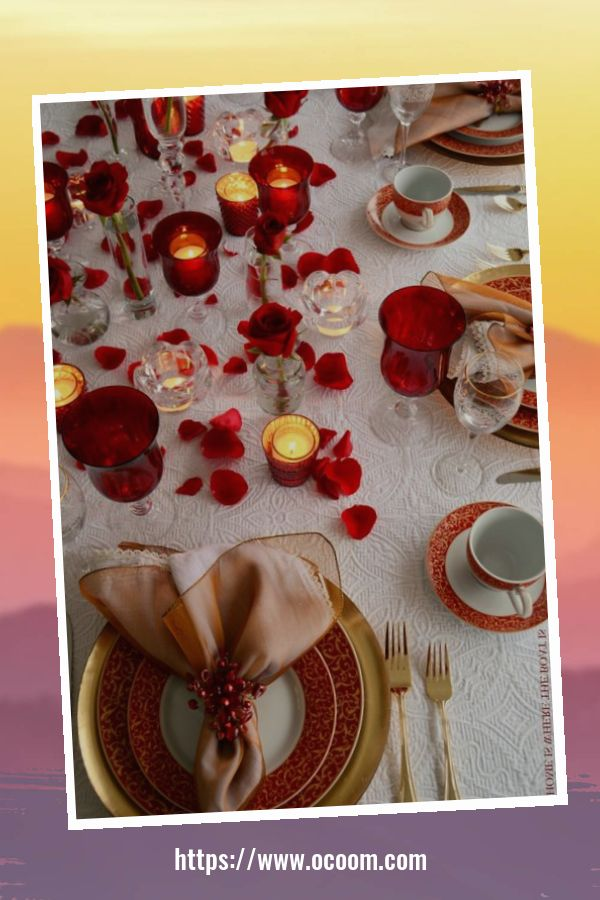 51 Elegant Table Settings Ideas For Valentines Day 10