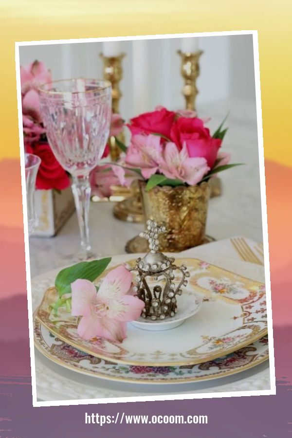 51 Elegant Table Settings Ideas For Valentines Day 12